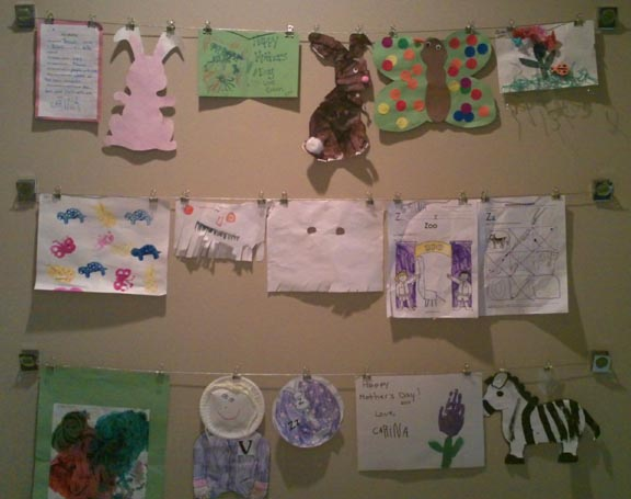 Kid Art Wall After