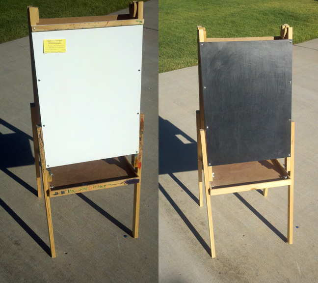 easel before
