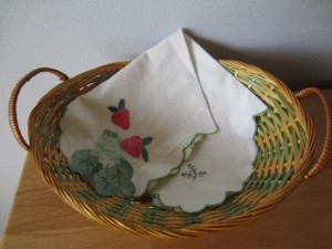 basket and strawberry liner