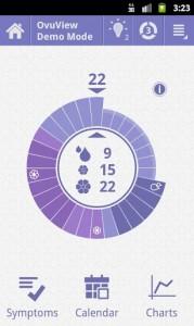 OvuView menstrual calendar
