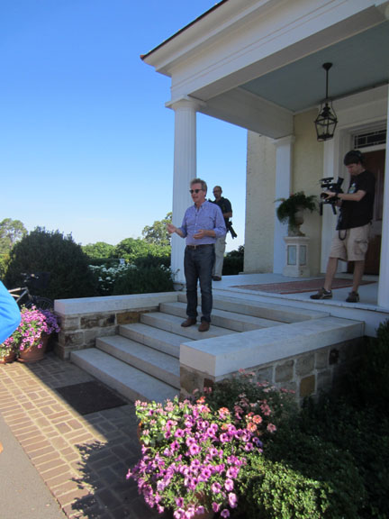 P. Allen Smith on his front steps