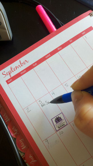 Back to School: Calendar Keeping