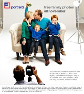 free family portraits from jcp in November