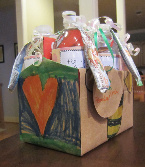 six pack teacher gift