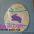 Easter Craft: Tin Foil Egg