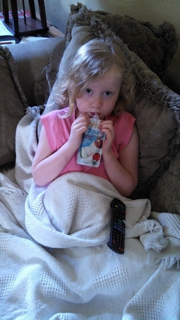 happy family yogurt smoothie snack for at home sick