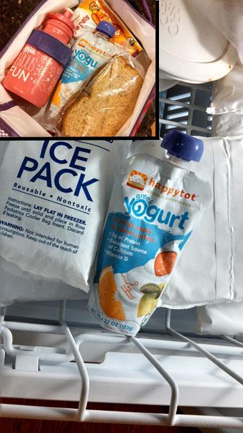 happy family yogurt smoothie as ice pack