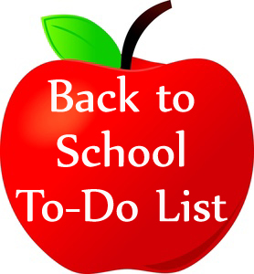 Back to School To-Do List