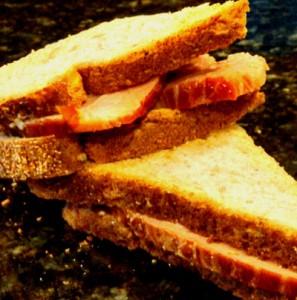 Petit Jean Meats all natural ham sandwich