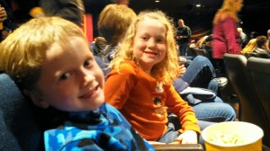 Kids in the grand Country theater