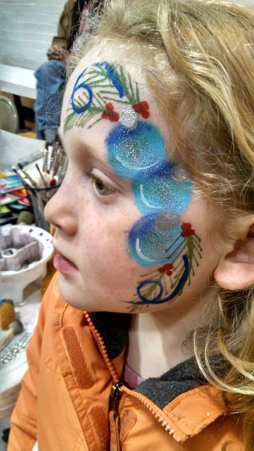 silver face painting