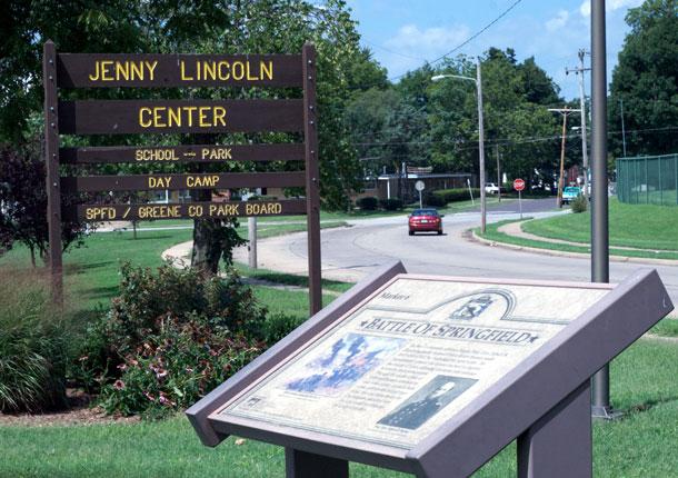Battle of Springfield marker