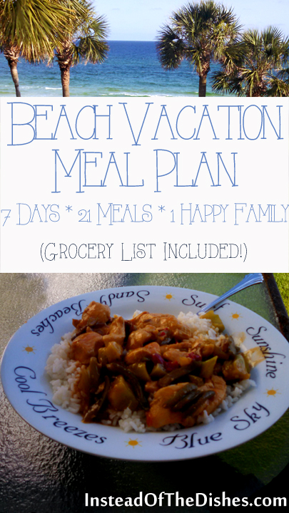 Beach Vacation Meal Plan