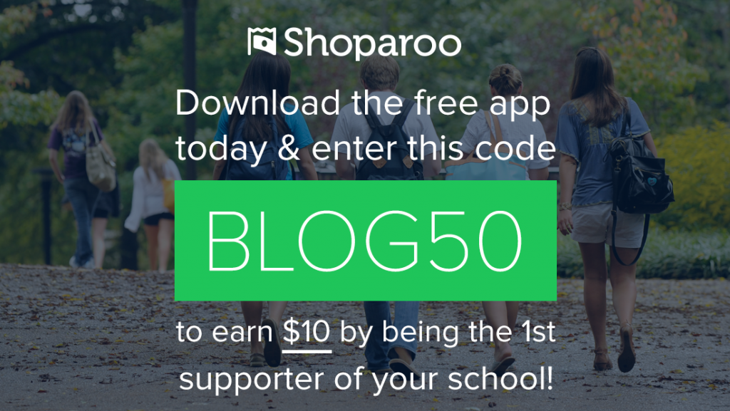 Sign up for Shoparoo and use code blog50 to earn $10 for your school