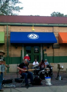 Blues Buskers in front of Helena KIPP School
