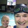 lap swimming at movie night