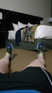 burpees in a hotel room